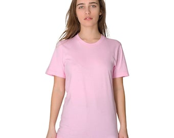 American Apparel 2001 Unisex T-shirt - Any Design in Our Shop with Custom Colors - Men Women Tee
