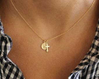 Virgin mary necklace etsy aloadofball Gallery