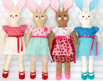 Sewing Pattern for soft toys, Rag Doll Pattern, Stuffed Toy Pattern, Rabbit Pattern, PDF Pattern, Stuffie Pattern, Softie Pattern, RACHEL