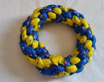 Braided Rope Donut, Braided Rope Dog Toy, Rope Dog Toy, Tug Dog Toy