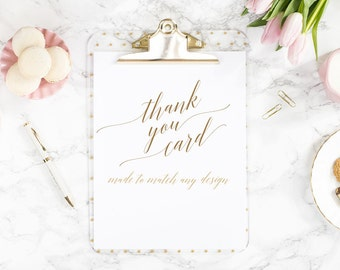 Made to Match Thank You Card
