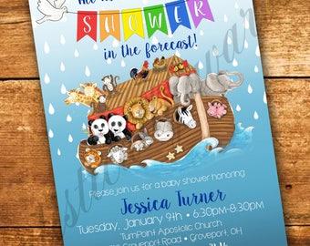 Noah's Ark Custom Baby Shower/ Birthday Invitation - Digital PDF
