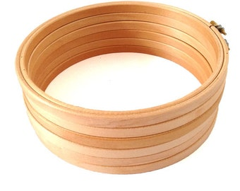 20.5 cm Wooden Embroidery Hoop - 8 inch hoop Volume Discount Cross stitch supplies- blank birch Wooden Hoops with roonded edges