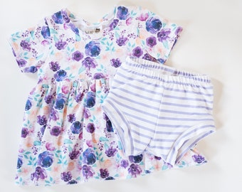 Baby girl clothes,Baby girl outfits,Newborn girl coming home outfit,Baby girl summer clothes,Peplum tee,Shorties,Bummies,Floral,Purple