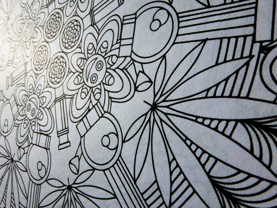 Mandala Coloring Pages Adults Printable : Mandala coloring page marijuandala printable coloring page