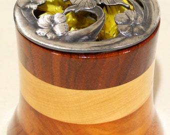 Wooden Potpourri Holder With Removable Lid, Scent Cup #125