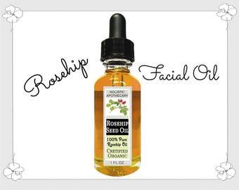 Organic 100% ROSEHIP OIL Facial Oil Helps Wrinkles, Dark Spots, Dry Skin , Scars Face Serum Anti Aging Face Oil