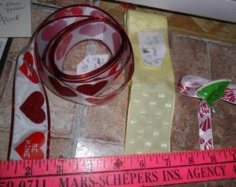 4 Assorted Ribbon trims - 3 plus yards long