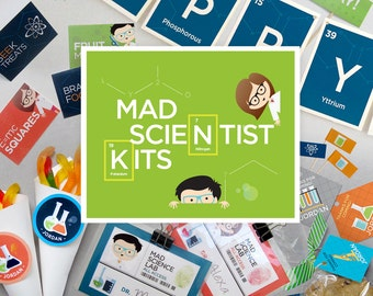 MAD SCIENCE Printable Birthday Party Decor Kit