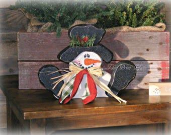 Primitive Wooden Snowman ~ Snowman Decor ~ Primitive Christmas ~ Country Snowman ~ Rustic Snowman ~ Primitive Decor ~ Winter Decor ~ Gift