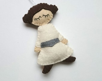 Princess Leila felt Star Wars ornament, SW inspired home decoration for men for women for him for her may the force be with you - May4th