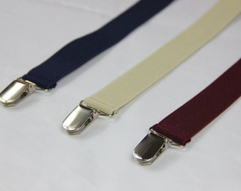 Navy blue/beige/dark red/black mens Suspenders,8 colors,adult Suspenders,wedding Suspenders, groomsmen suspenders, 2.5cm/1''  3 clips