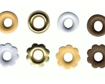 MAXI white beige brown gold LOT assortment of PINKS circles and flowers X 64 PIECES COLLECTION love