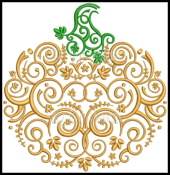 Decorative Pumpkin Applique Embroidery Design