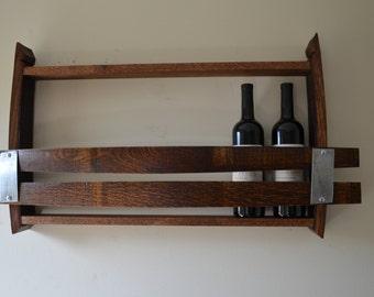 Wine Rack 7 bottle Wine Barrel rack made from reclaimed wine barrels