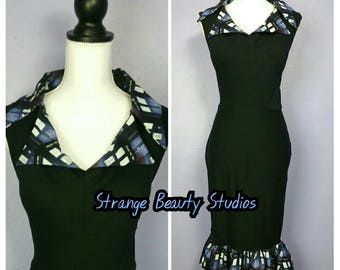 Dahlia Wiggle Nerdy Pinup Dress in Dr Who Tardis  Print