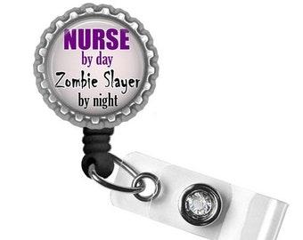 ON SALE - Badge Reel, Nurse Badge, Retractable ID Holder, Id Badge, Gifts for Nurses, Quote Badge, Scrub Accessories, Nurse Life, Nurse Gift