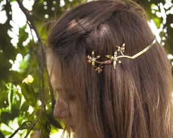 Rose Gold Wedding Headpiece | Tiara For Bridal | Greek Hair Wreath | Gold Wedding Hair Accessory | Head Piece for Bridal
