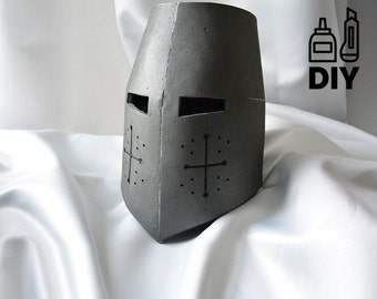 DIY Knight Helmet Template for EVA foam - version A