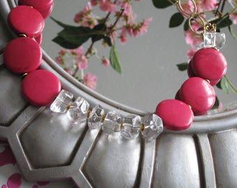 Amazing Fuchsia Agate Necklace