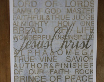 names of Jesus fine art print 11x14
