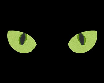 Cat Eyes Halloween Embroidery Machine Design