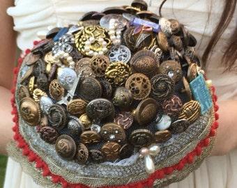 Custom made Button bouquet