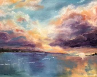 Dramatic Sunset Fine Art Giclee