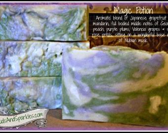 Magic Potion - Rustic Suds Natural - Organic Goat Milk Triple Butter Soap Bar - 5-6oz. Each