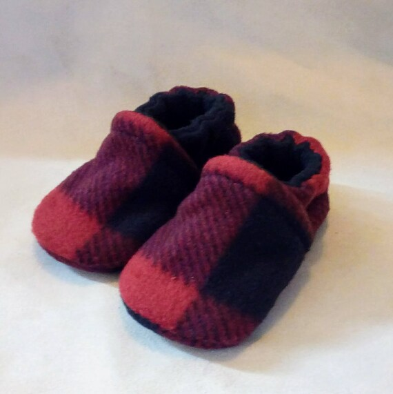 Buffalo Plaid: Soft Sole Baby Shoes 3-6M