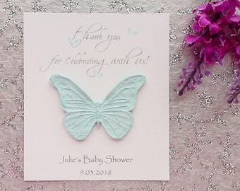 25 Seeded Baby Shower Cards - thank you for celebrating with us!