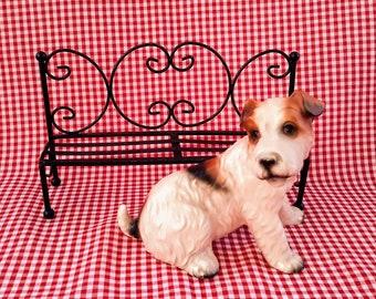 Vintage Fox Terrier Dog Ceramic Figurine, Made in Japan