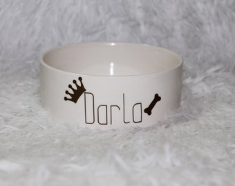 Personalized Dog or Water Bowl (Various Designs)
