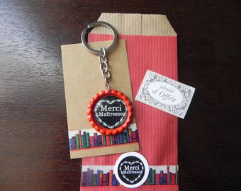 Thank you teacher: Key ring and a complete gift package