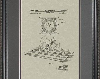 Twister Game Patent Artwork Fun Toy Gift F4279