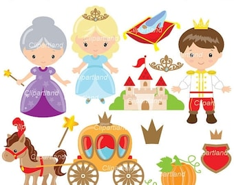 ON SALE INSTANT Download. Ccind_11_Cinderella. Cinderella clip art. Personal and commercial use.