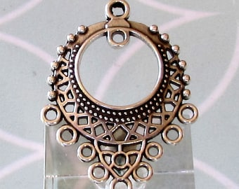 Boho Pendant With Loops, Antique Silver, AS465
