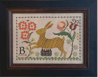 NEW! LA-D-DA B is for Bunny counted cross stitch patterns at thecottageneedle.com Easter 2018 Nashville Market