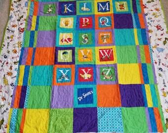 Dr. Seuss throw quilt