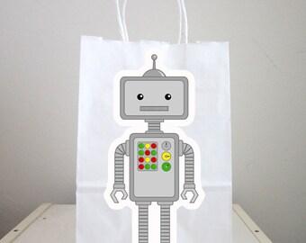 Robot Goody Bags, Robot Gift Bags, Robot Favor Bags, Robot Party Bags, Robot Favors