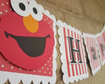 Elmo Birthday Party Banner