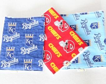 Kansas City Sports Teams, KC Burp Cloths, KC Chiefs and Royals Baby, KC Chiefs and Royals, Kansas City Chiefs and Royals Baby Burp Cloth