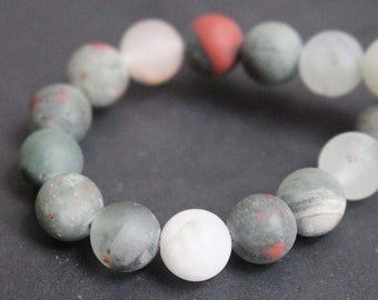 Matte African Bloodstone Beads,Round Stone Beads,15'' per strand 6mm 8mm 10mm 12mm