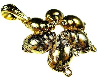 Shell pendants, heavy solid brass