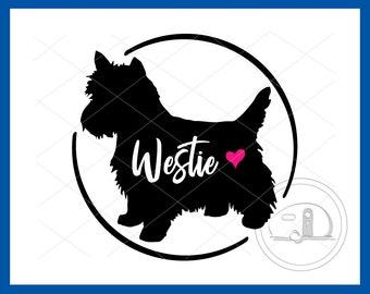 Westie, SVG, Westie Silhouette, Dog, West Highland White Terrier, Westie Vector, Westie Design, Westie Car Decal, Westie T-shirt, Dog Decal