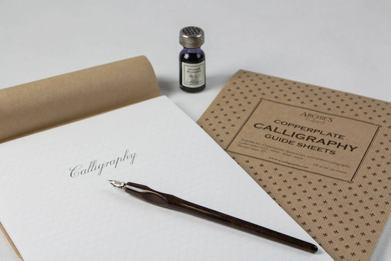 Rulled calligraphy paper pad copperplate spencerian guide