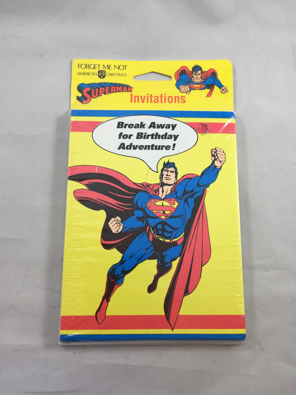 American Greetings Superman Birthday Invitations 8 With