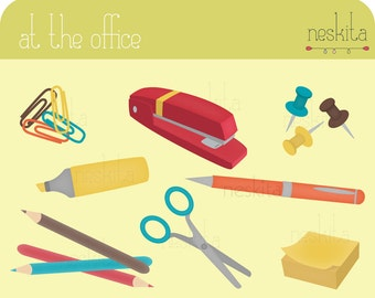 Clip art set - At the office
