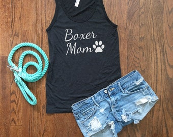 Boxer Mom Workout Tank Top