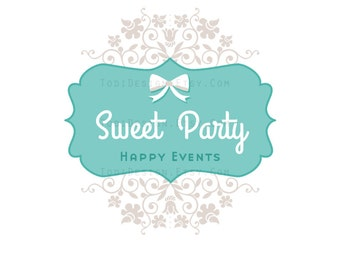 Premade Logo design- Sweet Party  Logo design
